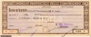 1942 CONSIGLIO CORPORAZIONI Buono acquisto maglion