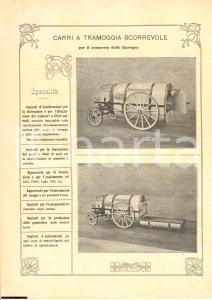 1920 CARRI A TRAMOGGIA PER TRASPORTO CAROGNE locandina