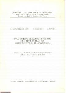 1973 De Noris CHIRURGIA PLASTICA IN TRAUMATOLOGIA