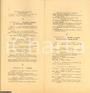 1903 PADOVA XIII Congresso Allevatori Veneti Bestiame