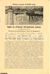 1905 LA ESPORTAZIONE AUSTRIACA Rivista mensile