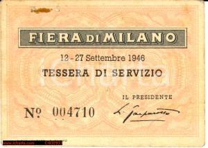 1946 Fiera Milano Tessera - avv. Luigi Gasparotto
