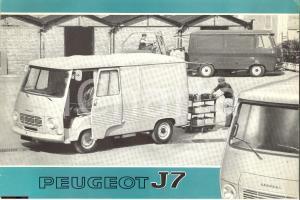 1973 furgone Peugeot J7, catalogo pubblicitario