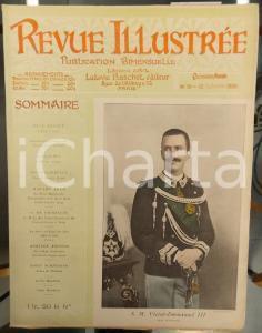 1900 REVUE ILLUSTREE Vittorio Emanuele II nuovo Re d'Italia *Année XV n° 19