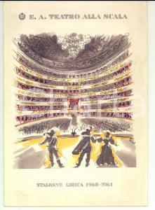 1960 MILANO Teatro ALLA SCALA Programma balletto stagione lirica  1960-1961
