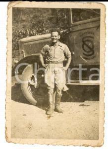 1937 PASSO MUSSOLINI (ETIOPIA) Militare con automezzo OFFICINE SAVIGLIANO 6 x 9