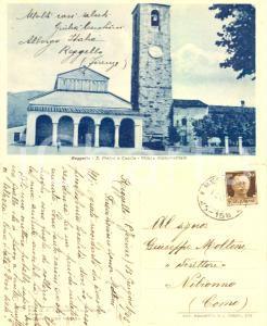 1943 REGGELLO (FI) Pieve SAN PIETRO *Cartolina allo scrittore Giuseppe MOLTENI