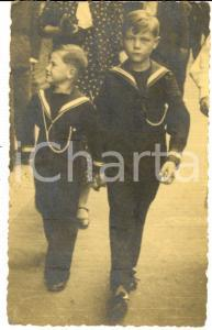 1934 BUSTO ARSIZIO (VA) Nipotini di Paolo RONDONI vestiti da marinaretti *Foto