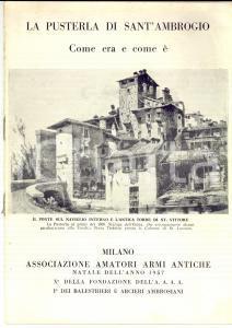 1957 MILANO Associazione Amatori Armi Antiche - La Pusterla di SANT'AMBROGIO