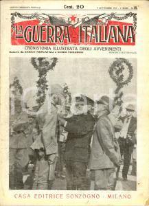 1917 WW1 LA GUERRA ITALIANA SONZOGNO Vittoria della Battaglia dell'ISONZO *N° 18