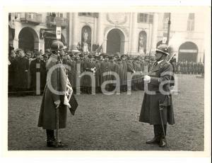 1940 ca VENARIA REALE (TO) Cerimonia militare in piazza ANNUNZIATA *Foto GALLIAN