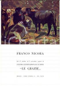 1962 MILANO Galleria LE GRAZIE Franco NICORA *Invito inaugurazione mostra