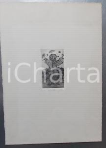 1977 IL GIOCOLIERE *Litografia firmata T. F. n° 23/35 Tiratura limitata
