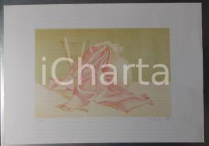1989 G. LUCIANI Natura morta *Litografia 33/60 Miles FIORI VOGHERA 35x50 cm