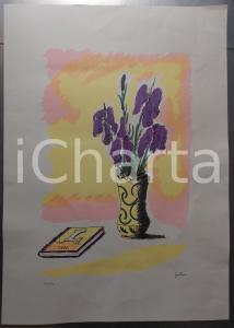 1991 NATURA MORTA con libro *Litografia 123/199 cm 45x60 FIRMATA