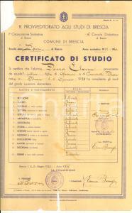 1940 BRESCIA Diploma di licenza elementare per Elvira DORZA *DANNEGGIATO