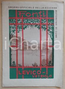 1929 TURISMO Fonti LEVICO-VETRIOLO (TN) *Anno I n°5 Rivista ILLUSTRATA