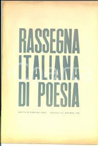 Novembre 1950 COMO Rassegna italiana di poesia *Rivista Sem BENELLI Dino BONARDI