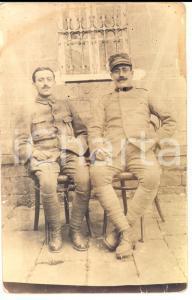 1918 WW1 Ritratto di militare1° Reggimento GENIO con commilitone *Fotografia FP