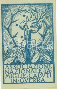 1957 VALENZA Angelo TERZAGO Associazione Nazionale Famiglie Caduti *Tessera