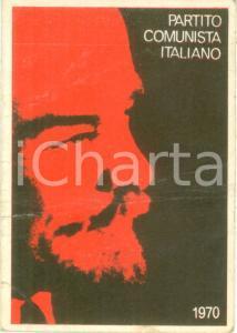1970 PARTITO COMUNISTA ITALIANO Tessera d'iscrizione ritratto LENIN *Danneggiata