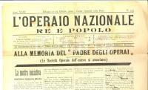 1900 L'OPERAIO NAZIONALE Società Operaie ricordano Umberto I padre degli operai