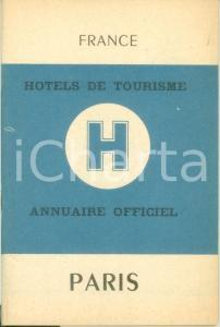 1954 PARIS Annuaire officiel Hotels de Tourisme de FRANCE *Guida turistica