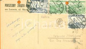 1937 LWOW (POLAND) Powszechny Zwiazek Bruttowcow *Cartolina commerciale FP VG