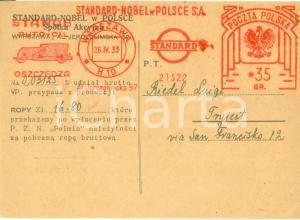 1933 WARSZAWA (POLAND) Società STANDARD NOBEL W POLSCE *Cartolina commerciale FG