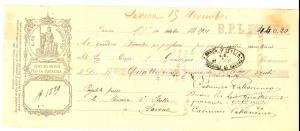 1901 TORINO Vaglia cambiario del marchese Casimiro PALLAVICINO