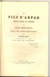 1864 TORINO Germain SARRUT Les fils d'ARPAD (CROUY- CHANEL DE HONGRIE)