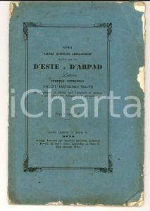 1863 VERATTI Quistioni genealogiche relative alle case D'Este e D'Arpad