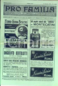 1912 PRO FAMILIA Rivista settimanale  ILLUSTRATA Italiani in Cirenaica n°3