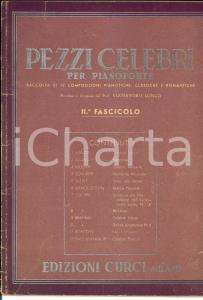 1940 AA. VV. Pezzi celebri per pianoforte - II Fascicolo *Ed. CURCI MILANO