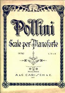 1932 Francesco POLLINI Scale per pianoforte *Ed. CARISCH MILANO