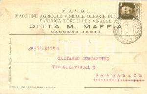 1933 CASSANO ALLO IONIO Macchine Agricole Vinicole Olearie M.A.V.O.I MAFFIA