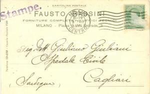 1919 MILANO Fausto BASSINI Forniture complete per uffici tecnici Cartolina FP VG