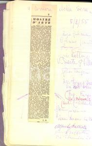 1954 - 1956 MILANO Galleria LE GRAZIE - Rassegna stampa con autografi pittori