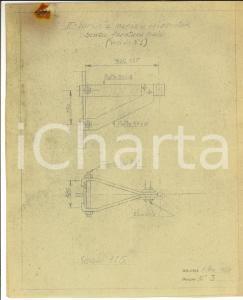 1939 MILANO Progetti per mensola orizzontale *Disegno tecnico industriale