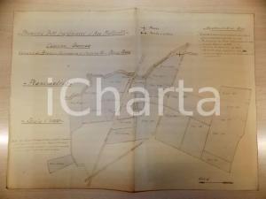 1930 ca BRONI (PV) Planimetria cascina GOREDA ing. GHIACCI e avv. MAFFERELLI