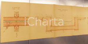 1940 ca BRONI Derivazione OLONETTA nel colatore ARFUGO *Sezione longitudinale