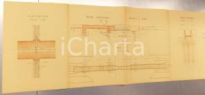 1940 ca BRONI Derivazione OLONETTA nel colatore ARFUGO *Sezione e pianta 110x32