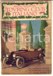 1920 TOURING CLUB ITALIANO Rivista *CINZANO paese del vermouth Anno XXVI n° 6
