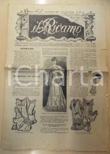 1907 MILANO Rivista IL RICAMO con disegni per signora *Anno VIII n° 36