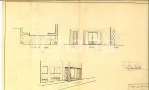 1953 SANNAZZARO DE' BURGONDI (PV) Progetto negozio G. TORRIANI su viale LORETO