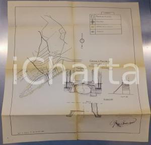 1953 PONTE NIZZA - FIRAGNOLI (PV) Progetto per ponticello *Geom. Mario BARDONE