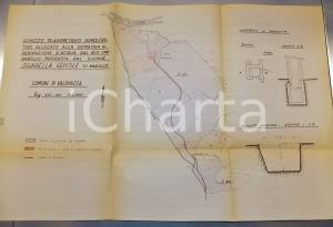 1945 ca VAL DI NIZZA  Planimetria derivazione dal rio CARDARELLO pro SGARELLA