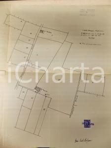 1942 VOGHERA (PV) Planimetria poderi rurali con nuovo pozzo *Geom. Paolo RUSCONI