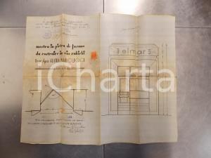 1933 LECCE Mostra in pietra di Fasano per stabile via RUBICHI di Elvira MARCUCCI