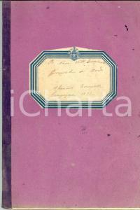1892 R. N. VITTORIO EMANUELE Diario di bordo conte Aleramo TORNIELLI 90 pp.